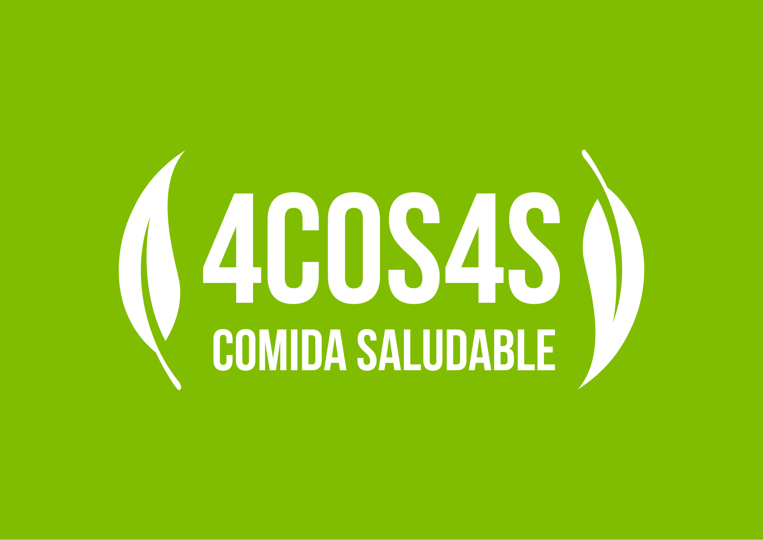 4 COSAS - White logo + Green Background HR