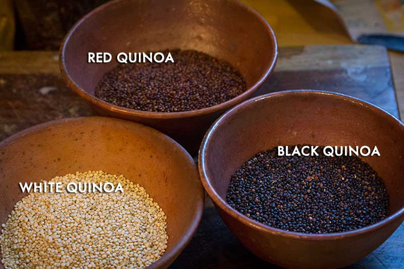 Photo quinoa three types
