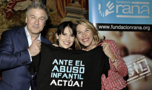 Alec and Hilaria Baldwin with Liz Homberg, President of RANA