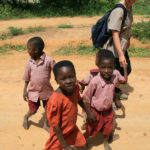 Meeting the local children in Kenya